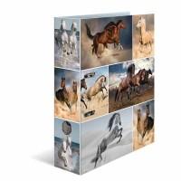Classeur à levier HERMA « Horses » – A4 Dos de 7 cm