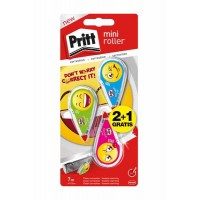 3 Rollers de correction PRITT Emoji 7 mètres
