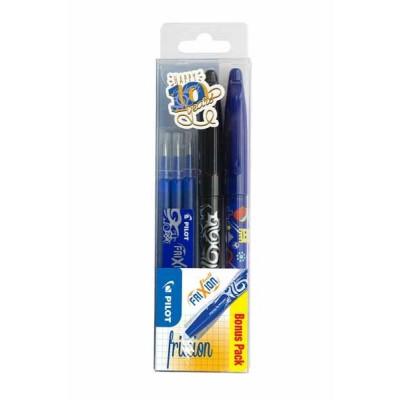 Set de 2 Rollers PILOT Frixion Ball + 3 Recharges bleues