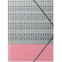Farde à élastique POSSO ETHNIK 35 x 26 cm