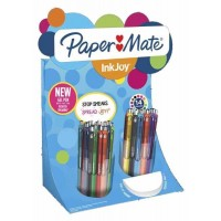 Stylos bille PAPERMATE INKJOY Gel – Display de 60