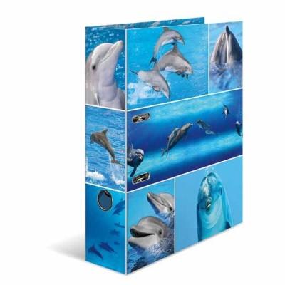 Classeur à levier HERMA « Dolphins » – A4 Dos de 7 cm