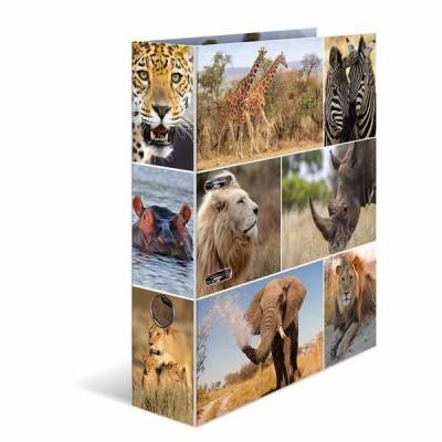 Classeur à levier HERMA « African animals » – A4 Dos de 7 cm