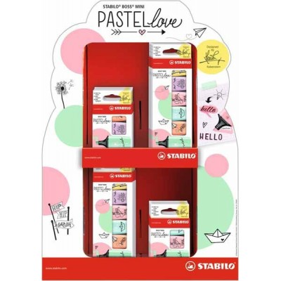 STABILO Boss Mini Pastel – Display de 16