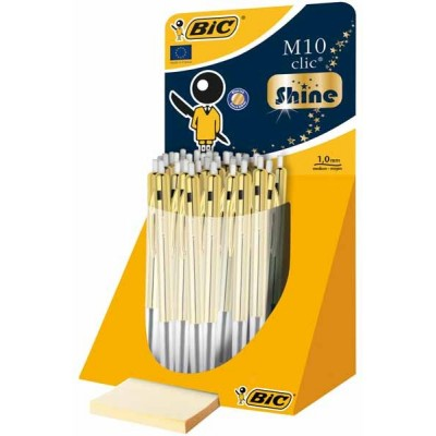 Stylo bille BIC M10 Shine – Display de 10