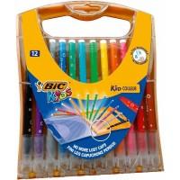 12 Feutres BIC Kids Couleurs + Etui Rainbow