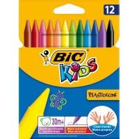 Waskrijt rond BIC KIDS plastidecor - etui van 12