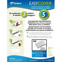 Couvre cahier SADIPAL « Easy Cover » – Set de 5