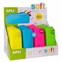 Fourre-tout APLI Soft Silicone Fluo