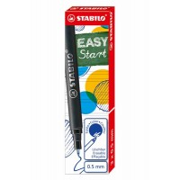 STABILO EASY START 3 recharges medium Bleues