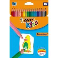 Crayons BIC KIDS Tropicolor - étui de 18