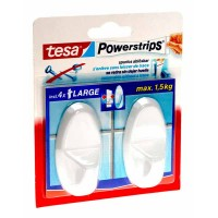 TESA powerstrip 2 haken oval wit