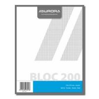 Kladblok AURORA 200 vellen 210X270mm geruit 5mm