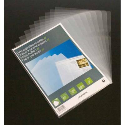 Pochette de 10 protèges documents Aurora Transparents