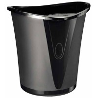 Corbeille Leitz Allura Noir - 18 litres - 345x350x330mm