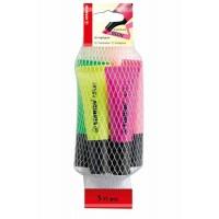 Pochette de 5 surligneurs Stabilo Neon Couleurs Assorties