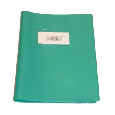 Couvre cahier Bronyl Haute qualité A5 Vert moyen