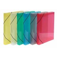 Boîte de rangement + élastiques PPK Transparente A4