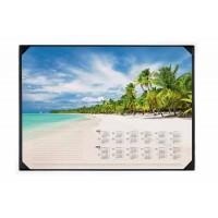 Calendrier 2 ans. DURABLE Support + Sous main calendrier « plage » 59 x 42 cm - 25 feuilles