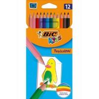 Crayons de couleur BIC Tropicolor - étui de 12