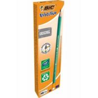 Crayons graphite BIC Evolution HB n°2 avec gomme - boîte de 12