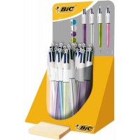 Stylo bille BIC 4 couleurs shine - display de 20